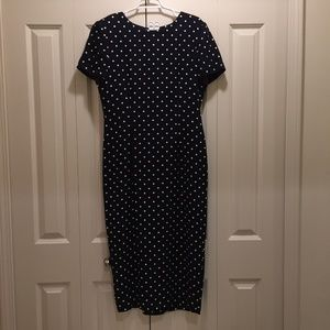 JESSICA HOWARD Polka Dot Maxi Long Fitted Padded